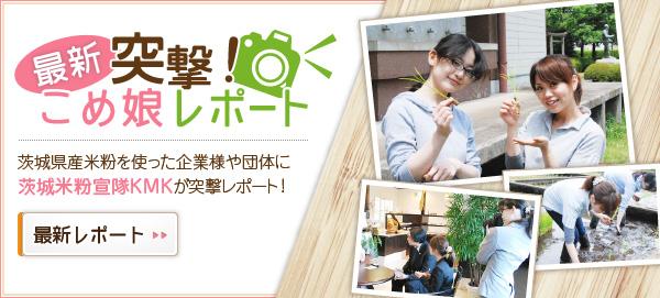 茨城県産米粉を使った企業様や団体に茨城県米粉宣隊KMKが突撃レポート!